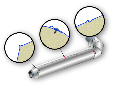 Sistemi e materiali di finitura per coibentazione di tubazioni for Tipi di materiali per tubi idraulici